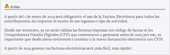 Facturación Electrónica Obligatoria