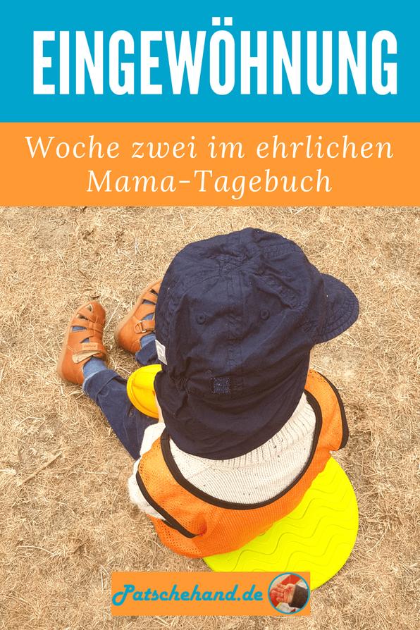 Grafik für Pinterest oder zum Teilen rund um den Kita-Start auf Mama-Blog Patschehand.de.