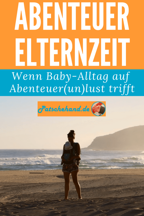 Grafk zum ungeschönten Erfahrungsbericht übers Reisen mit Baby auf Mama-Blog Patschehand.de.
