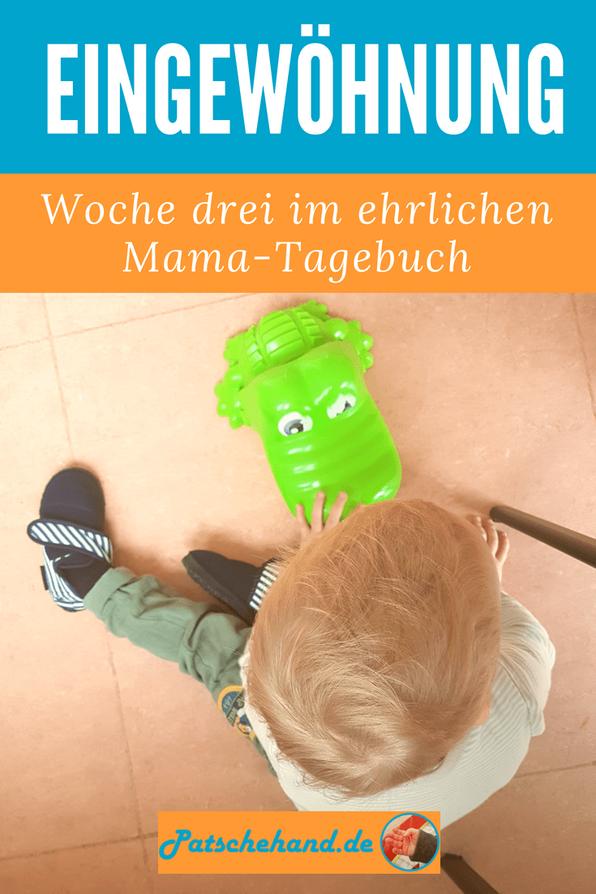 Grafik für Pinterest oder zum Teilen rund um die erste Zeit in der Kita auf Mama-Blog Patschehand.de.