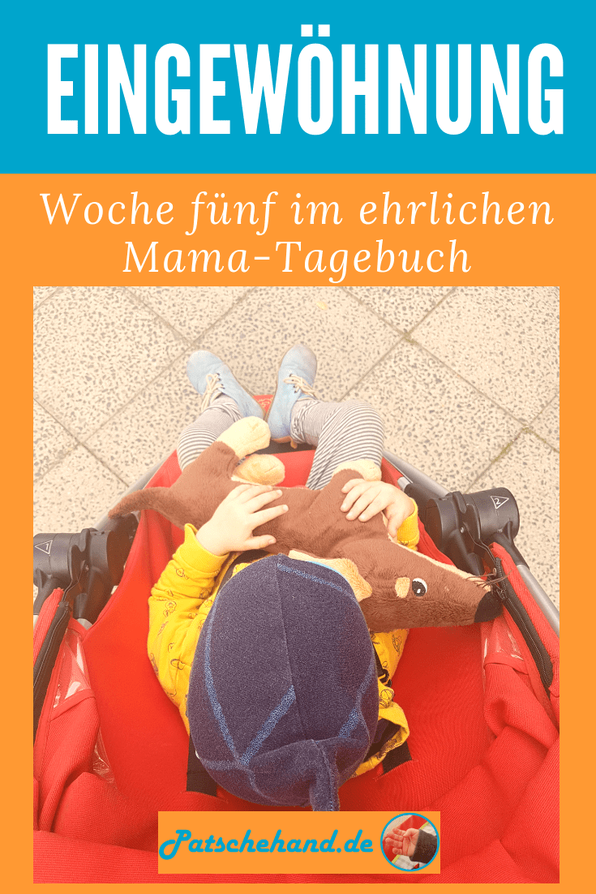 Grafik für Pinterest oder zum Teilen rund um die ersten erfolgreichen Trennungen während der Kita-Eingewöhnung auf Mama-Blog Patschehand.de.