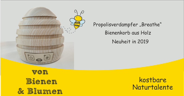 "Propolisverdampfer ""Breathe"" Bienenkorb aus Holz"