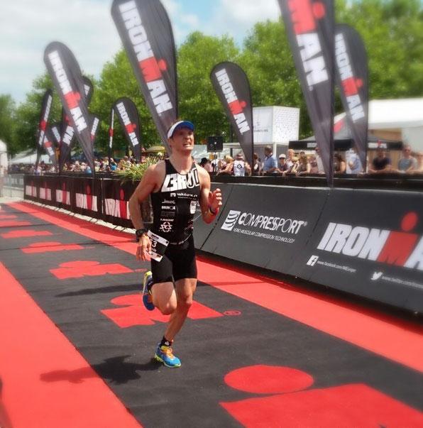 Dominik Sowieja Ironman 70.3 Luxemburg Finishline