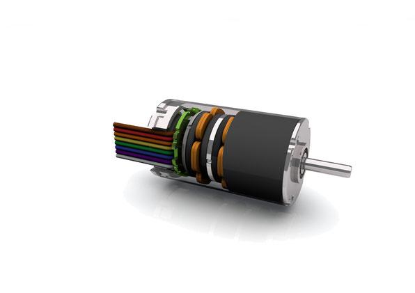 Bild: Einsenloser BLDC-Motor BGA22 von Dunkermotoren