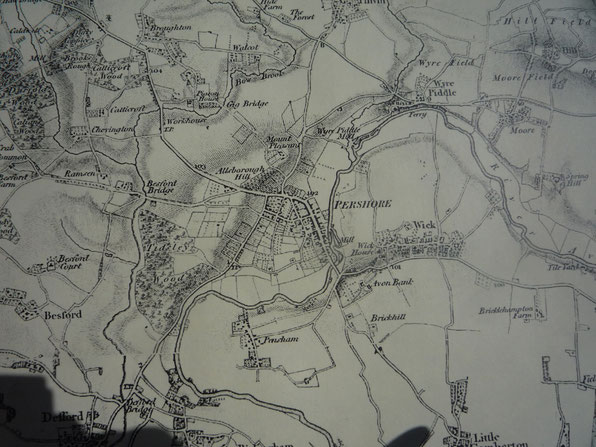 This is Pershore in 1832.