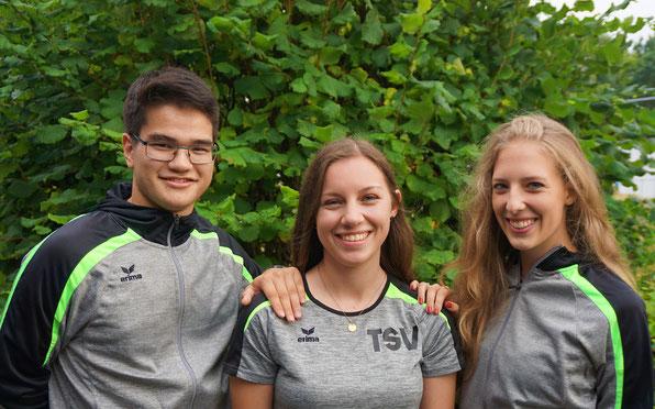 Alexander Langpap, Julie Breyer und Jil Mona Rutzen (von links)