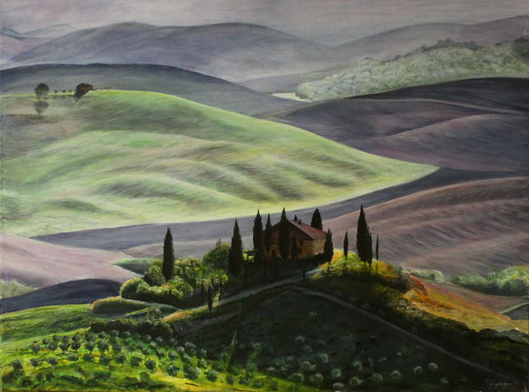 Toskana 60 x 80 cm Acryl auf Leinwand