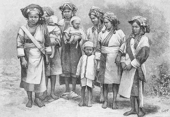 Chrétiennes ashi. Paul VIAL (1855-1917) : Les Gni ou Gni-Pa, tribu lolote du Yun-nan. Les Missions catholiques, Lyon, tome XXV, 1893; tome XXVI, 1894.