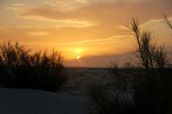 Die Sonne geht, die Kälte kommt.....