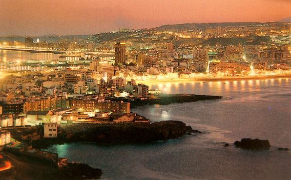 Von La Isleta erhält man einen Überblick über Las Palmas. Hinten,links der Hafen