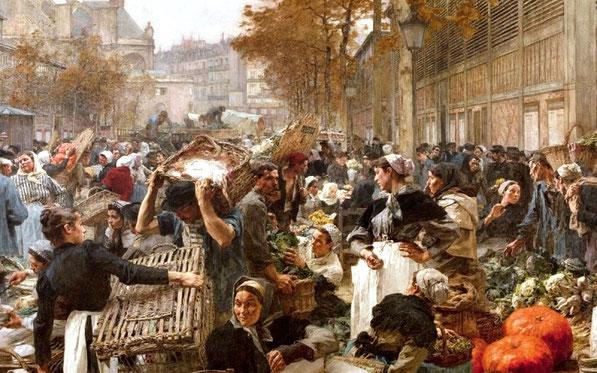 Gadeliv i Paris omkring 1870'erne
