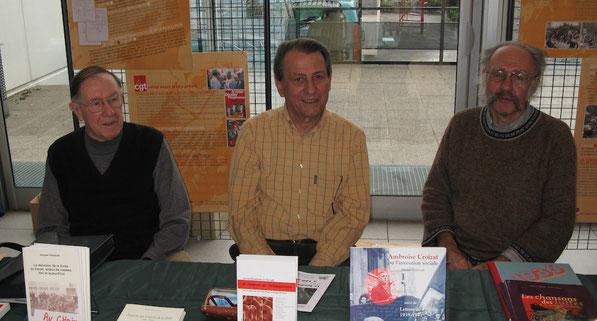 De gauche à droite: Jean Le Pessot-René Fratucello-Guy Brassoud