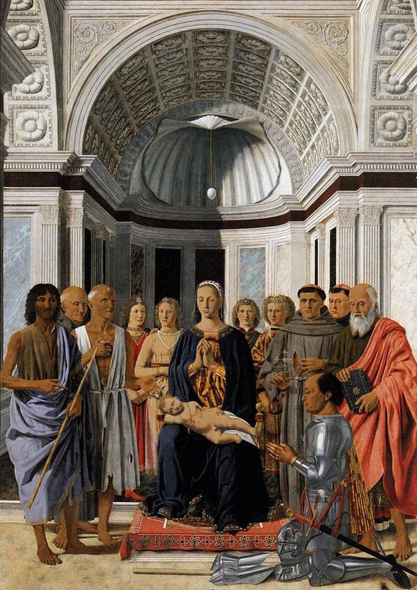 ピエロ・デッラ・フランチェスカ《天使と六聖人と聖母子》