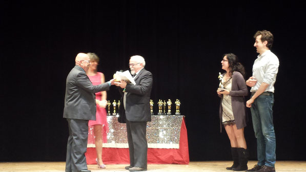 Teatro Alemanni premiazione 2014 - GIGI PAVANI e CINZIA MAZZACURATI  - PARDO e ALESSANDRA MARIANI - LUCA MAZZAMURRO
