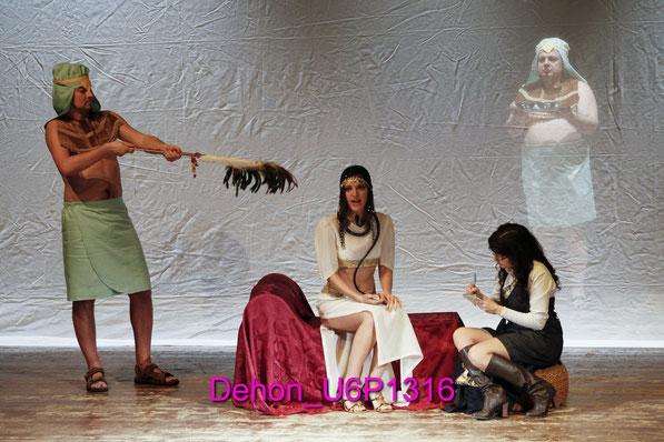 il pomo della discordia e il dramma di Martina da sinistra : Giovanni Marino, Laura Spimpolo,Alessandra Mariani e Sergio Dell'Aquila