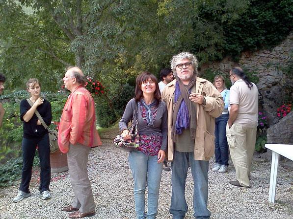 Giovanna Sabbatani con Cipriani Flavio (Centro Studi) e il Prof.Le Cat