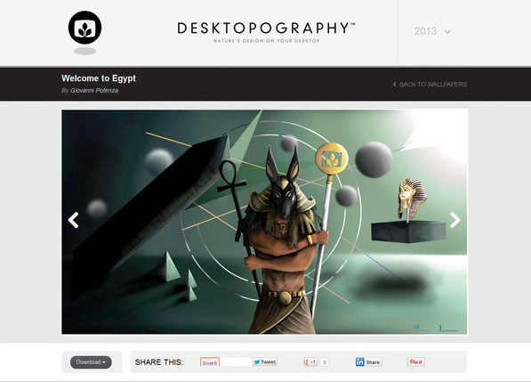 Pubblicazione artwork su portale Desktopography