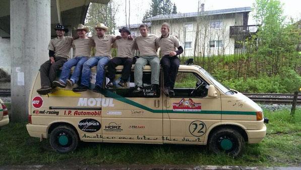 Shirt Team72 Another one bites the dust bei der Allgäu-Orient-Rallye 2014
