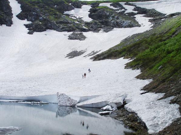 На леднике.  (17 июля 2011)
