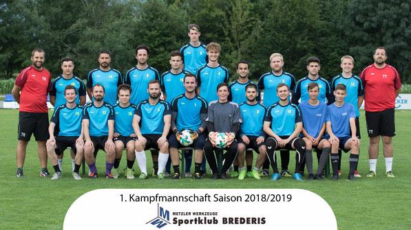 Unsere Spieler der 1. Kampfmannschaft der Saison 2018/2019. © Florian Hepberger