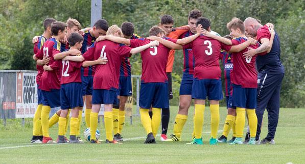 Eine tolle Teamleistung brachte den klaren Sieg der SPG U16 in Göfis. © Florian Hepberger