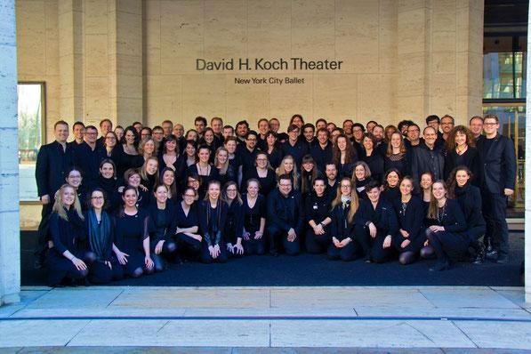 Der 21st Century Chorus anlässlich der Lord Of The Rings Trilogie im Lincoln Center in New York, April 2015