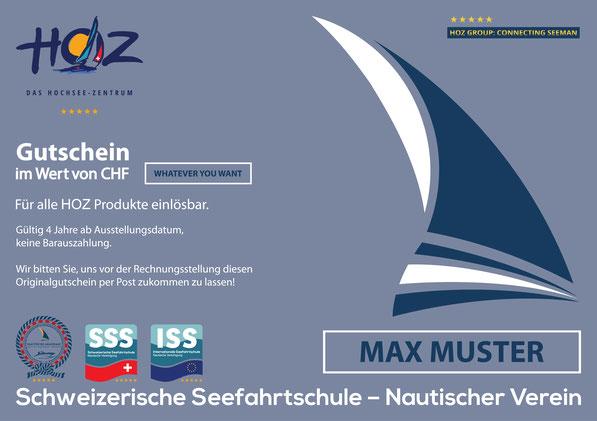 HOZ HOCHSEEZENTRUM INTERTATIONAL | Geschenkgutschein – Voucher | www.hoz.swiss