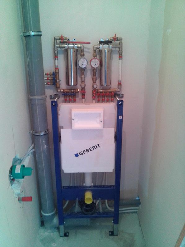 инсталяция с гигиеническим душем