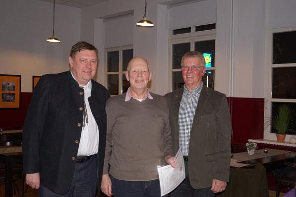 Hermann Gerdes, Goldnadel für 50 Jahre Mitgliedschaft