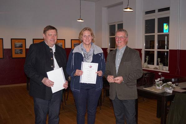 Birgit Irps-Borchers, Bronzenadel für 5 Jahre Mitgliedschaft
