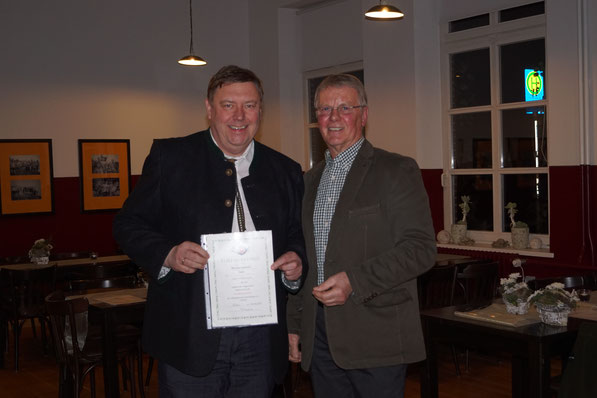 Hartmut Schröder, Bronzenadel für 5 Jahre Mitgliedschaft