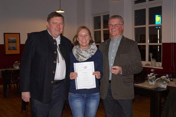 Karin Klockgether, Bronzenadel für 5 Jahre Mitgliedschaft