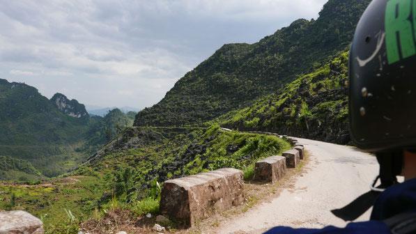 Kaum befahrene Straßen auf dem Ha Giang Loop