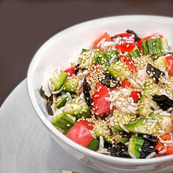 Veganer Sushi-Salat