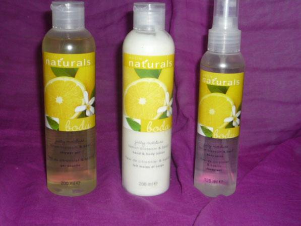 Avon naturals Fleur de citronnier & basilic