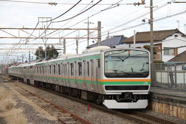 新町駅にて