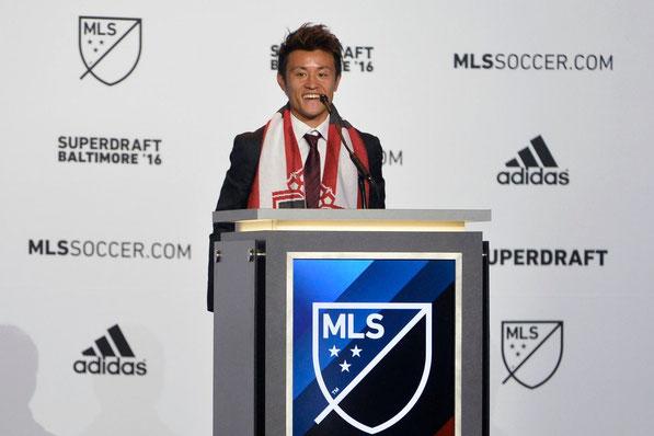 トロントFCより1位指名を受けた遠藤翼君 Photo: MLS