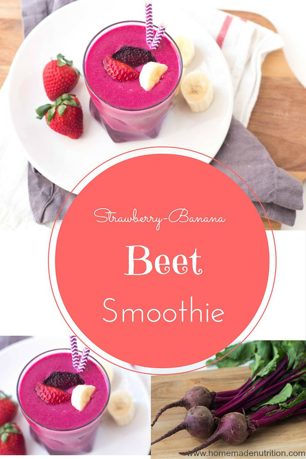 The tasty combination of strawberries and bananas gets an extra boost of nutrition from beets in this creamy smoothie !
