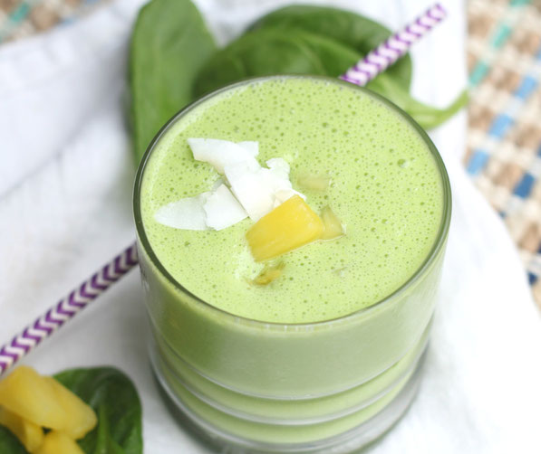 This easy tropical green smoothie is light, refreshing, and packed with nutrition!