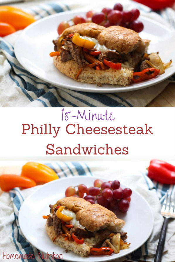 These philly cheesesteak sandwiches are packed with flavor and are a breeze to make! It's a weeknight-friendly dinner recipe with just 5 main ingredients and is ready in 15 minutes!