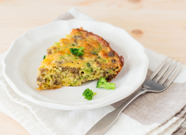 "This sausage, broccoli, and cheese frittata is easy to make and will be a hit with the whole family!  It's the perfect recipe for a healthy ""breakfast for dinner"" weeknight meal!"