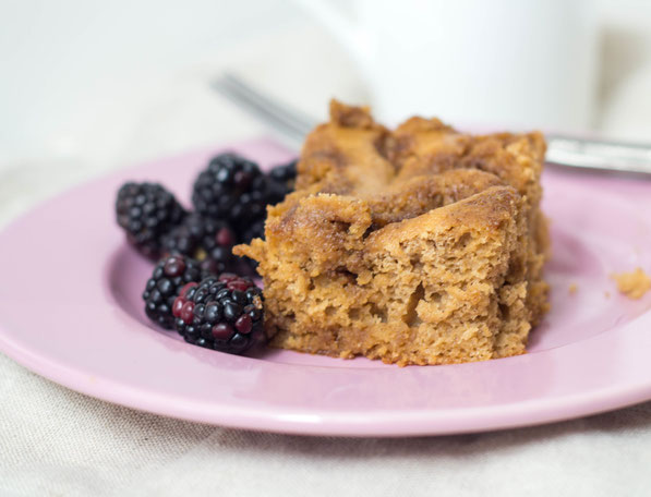 This light cinnamon buttermilk coffee cake is the perfect recipe for a relaxing weekend brunch!