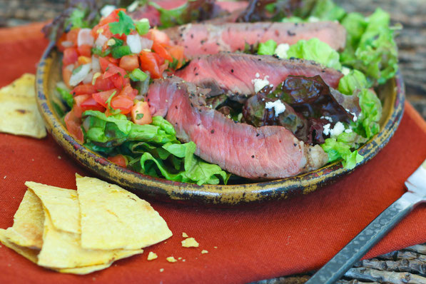 perfect marinated grilled steak salad!