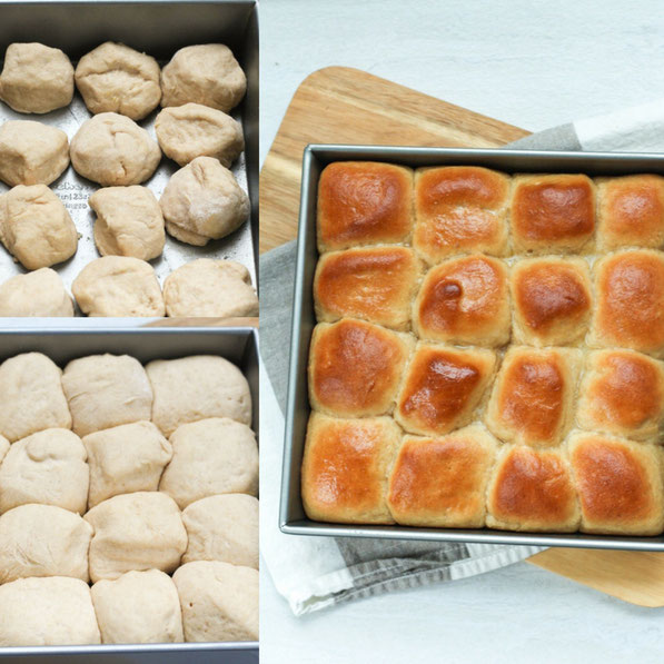 These homemade  whole grain honey wheat yeast rolls don't require any special equipment and the dough comes together in about 10 minutes!