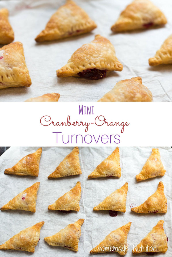 These mini cranberry-orange turnovers are a festive and flavorful dessert for holiday gatherings!