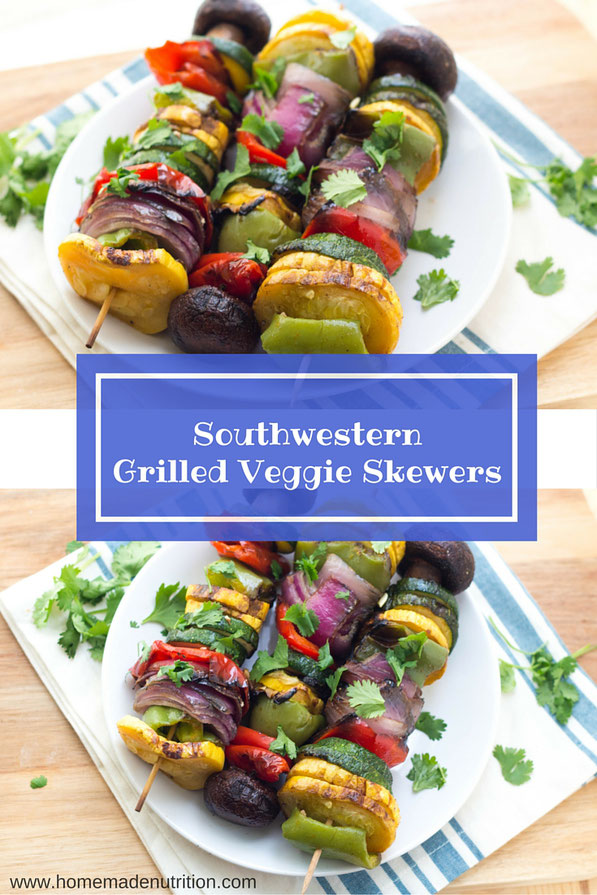 Grilled vegetable skewers are the perfect way to include more summer produce into your weekly meals.  They're a healthy make-ahead veggie recipe you can enjoy many different ways!
