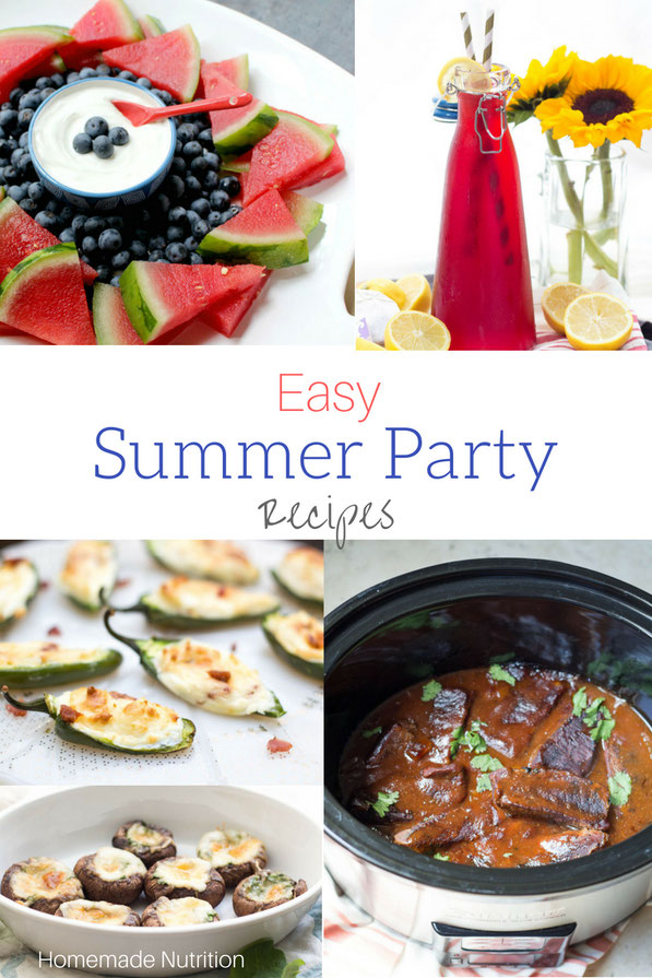Happy summer!  If you're headed to a BBQ or party, here are some delicious, easy, and healthy summer recipes to share!