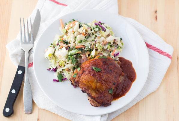 This easy BBQ chicken dinner for two is the perfect go-to for a busy weeknight!