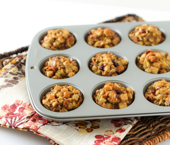 Easy swaps for healthy stuffing...stuffing muffins!
