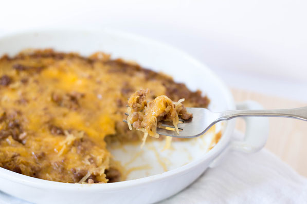 This cheeseburger spaghetti squash casserole is a healthier twist on a homemade hamburger helper recipe.